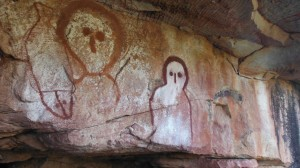 Aboriginal cave paintings in the Kimberley
