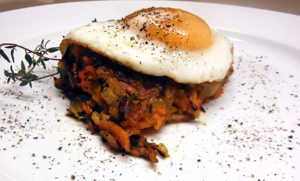 Sweet Potato Rosti with Fried Eggs