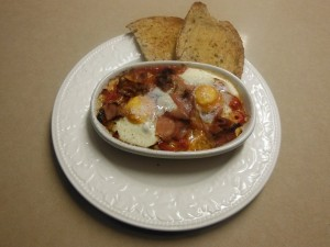 Spanish Eggs with Jamon