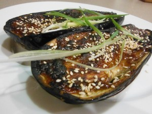 Caramelised Eggplants with Miso & Tahini