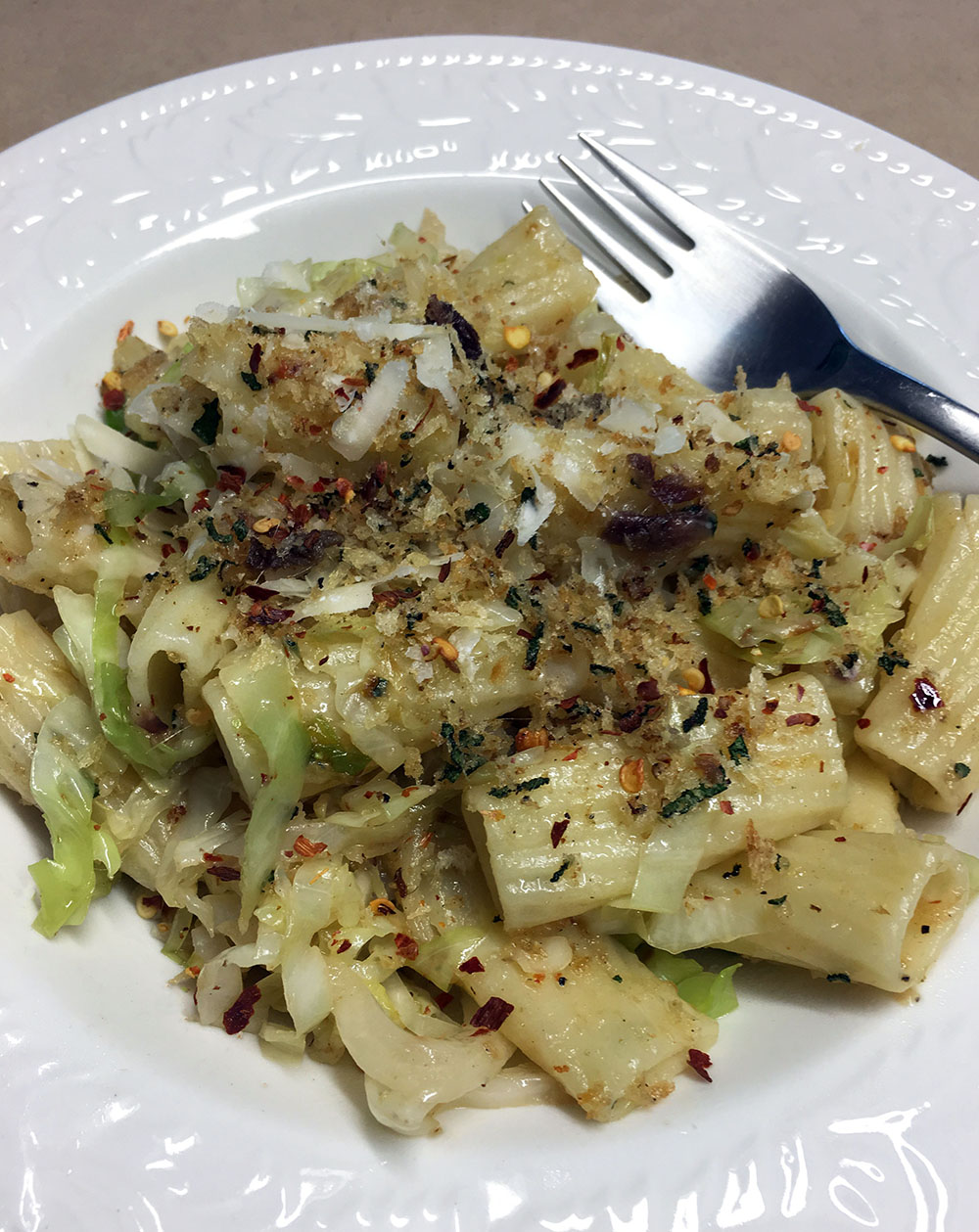 Pasta with Cabbage and Anchovies