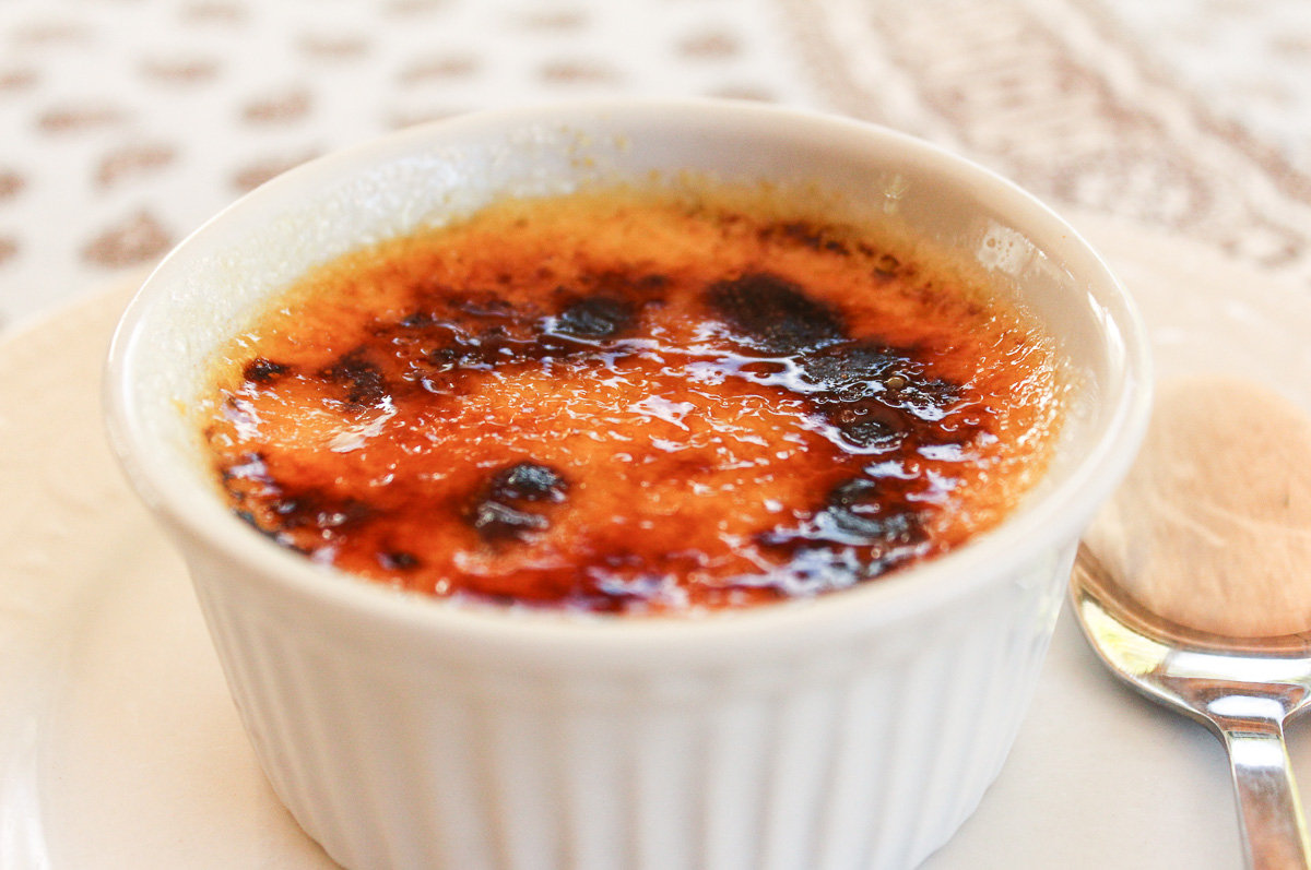 Ginger Crème Brulée with Quince Compote