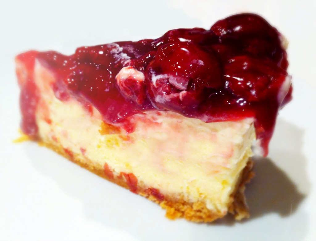 Recipes Baked Cheesecake With Sour Cherry Topping