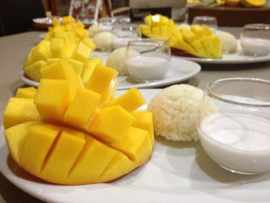 Chef Gogh's Mango with Sticky Rice & Coconut Milk