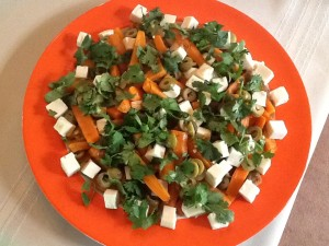 Moroccan Carrot Salad with Olives and Feta