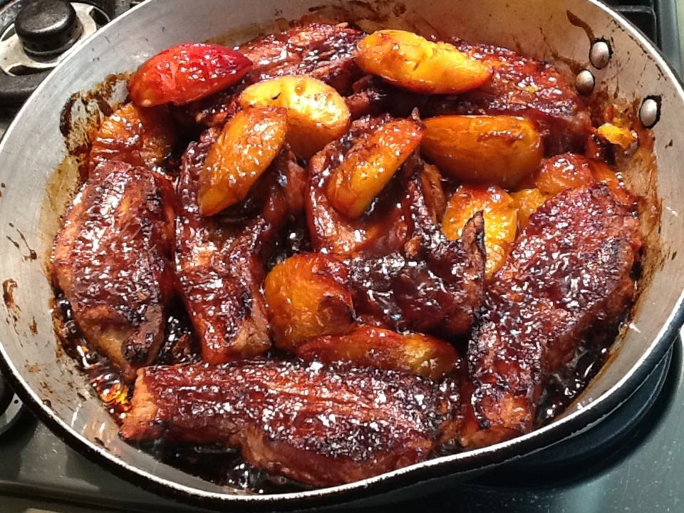 Recipes: Slow Roasted Pork Belly with Caramelised Onions ...