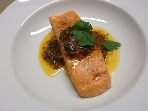 Salmon with Bois Boudrain Sauce