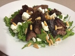 Greek-Style Lamb with Rocket Salad