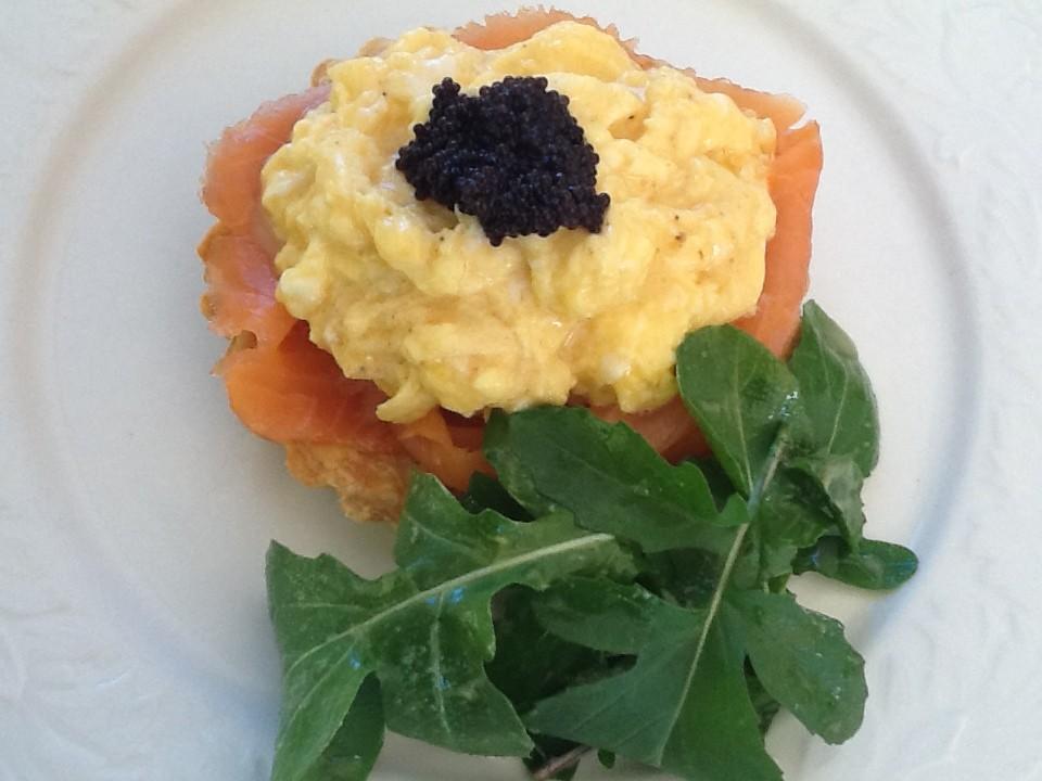 Scrambled Eggs With Salmon Roe Recipe — Dishmaps