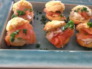 Polenta Muffins with Smoked Salmon