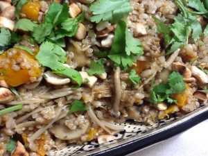 Barley & Quinoa with Pumpkin & Mushrooms