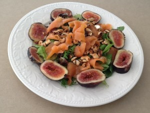 Figs with Smoked Salmon