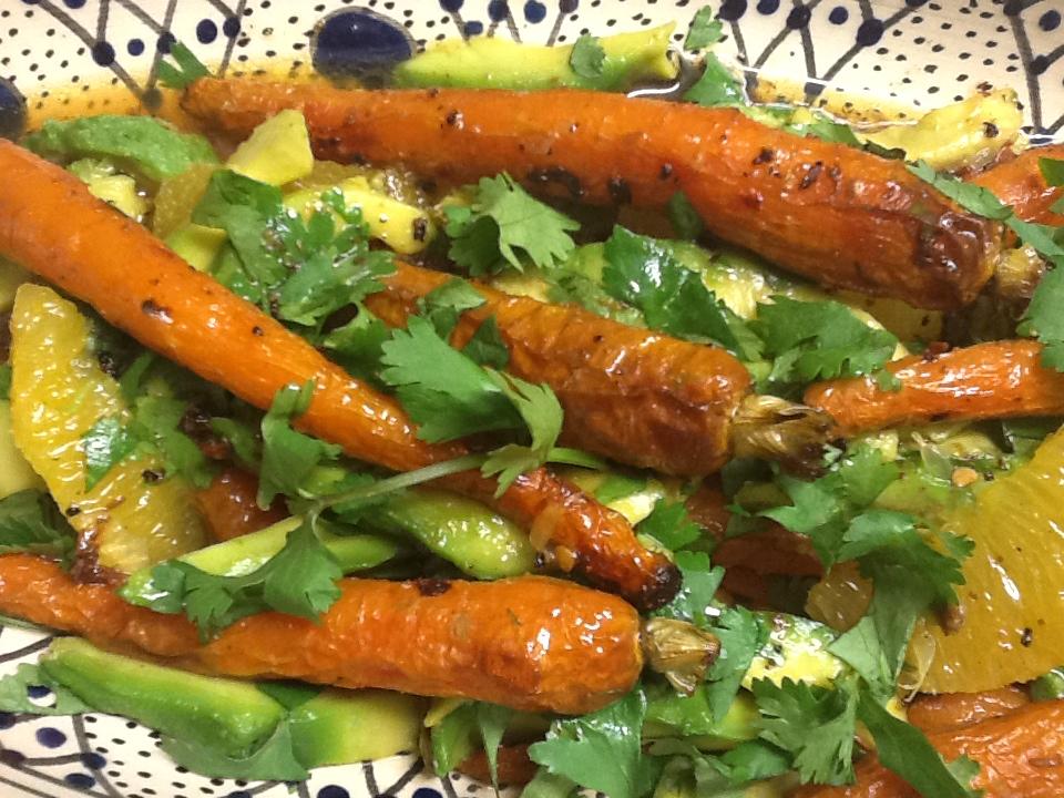 Recipes: Carrot Avocado and Orange Salad