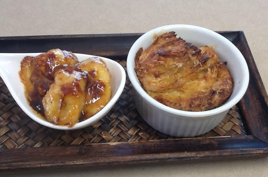 Bread & Butter Pudding with Caramelised Bananas