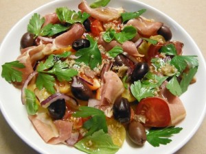 Spanish Tomato and Jamon Salad