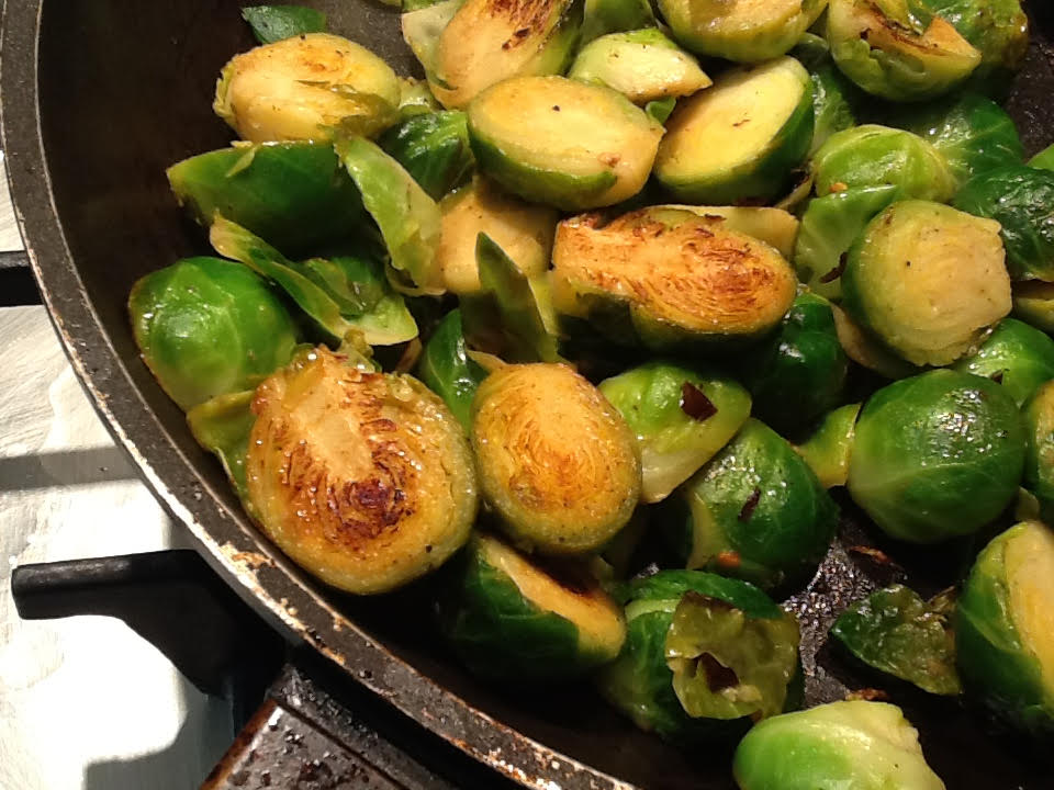 Brussels Sprouts with Garlic and Chilli