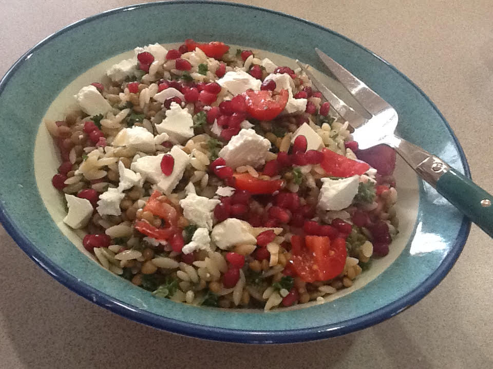 Pomegranate, Parsley and Risoni Salad
